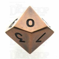 TDSO Metal Antique Copper Finish D10 Dice