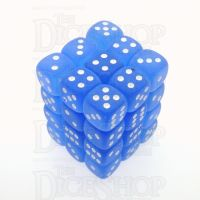 Chessex Frosted Blue & White 36 x D6 Dice Set