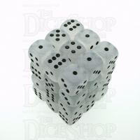 Chessex Frosted Clear & Black 36 x D6 Dice Set