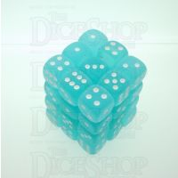Chessex Frosted Teal & White 36 x D6 Dice Set