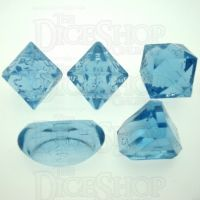 GameScience Gem Ice Blue Moonstone Zocchi D3 D5 D14 D16 D24 Dice Set