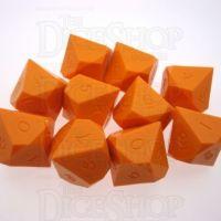 GameScience Opaque Pumpkin 10 x D10 Dice Set