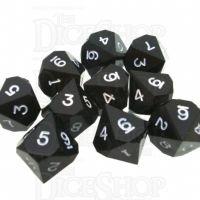GameScience Opaque Coal Black & White Ink 10 x D10 Dice Set