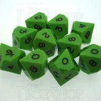 GameScience Opaque Lime & Black Ink 10 x D10 Dice Set