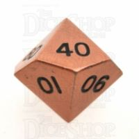 TDSO Metal Antique Copper Finish Percentile Dice