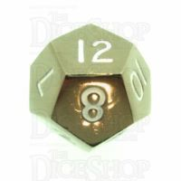 TDSO Metal Polished Black Nickel Finish D12 Dice