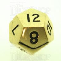 TDSO Metal Polished Gold Finish D12 Dice