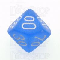 Chessex Frosted Blue & White Percentile Dice