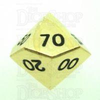 TDSO Metal Polished Gold Finish Percentile Dice