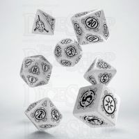 Q Workshop Pathfinder Shattered Star White & Black 7 Dice Polyset