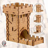 Q Workshop Medieval Wooden Dice Tower