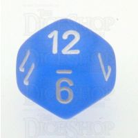 Chessex Frosted Blue & White D12 Dice