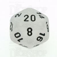 Chessex Frosted Clear & Black D20 Dice