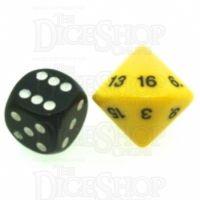 Koplow Opaque Yellow & Black 20mm D16 Dice