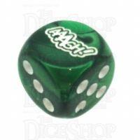 Chessex Gemini Green AAAGH Logo D6 Spot Dice
