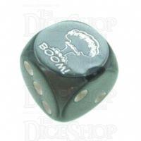 Chessex Gemini Steel BOOM Logo D6 Spot Dice