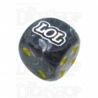 Chessex Vortex Black LOL Logo D6 Spot Dice