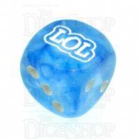 Chessex Borealis Sky Blue LOL Logo D6 Spot Dice