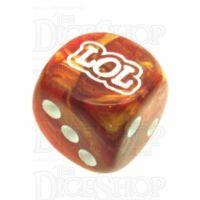 Chessex Lustrous Bronze LOL Logo D6 Spot Dice