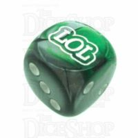 Chessex Gemini Green & Steel LOL Logo D6 Spot Dice