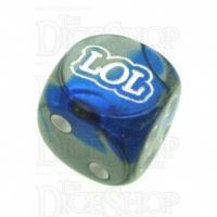 Chessex Gemini Blue & Steel LOL Logo D6 Spot Dice