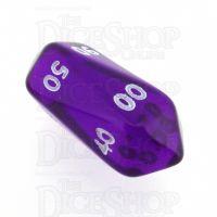 Crystal Caste Gem Purple Percentile Dice