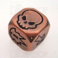 TDSO Metal Antique Copper Finish Block D6 Dice