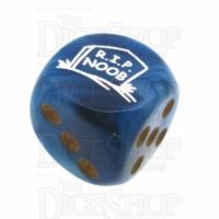 Chessex Phantom Teal RIP NOOB Logo D6 Spot Dice