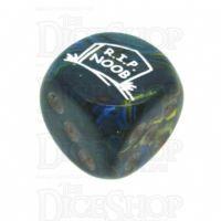 Chessex Festive Green RIP NOOB Logo D6 Spot Dice