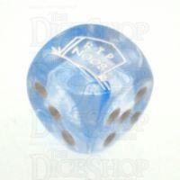 Chessex Nebula Dark Blue RIP NOOB Logo D6 Spot Dice