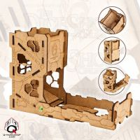 Q Workshop Tech Wooden Dice Tower