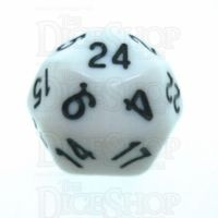 Tessellations Opaque White & Black Deltoidal D24 Dice