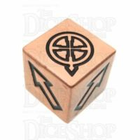 TDSO Metal Polished Copper Finish Scatter D6 Dice