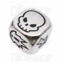 TDSO Metal Polished Silver Finish Block D6 Dice
