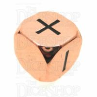 TDSO Metal Polished Copper Finish Fudge Fate D6 Dice