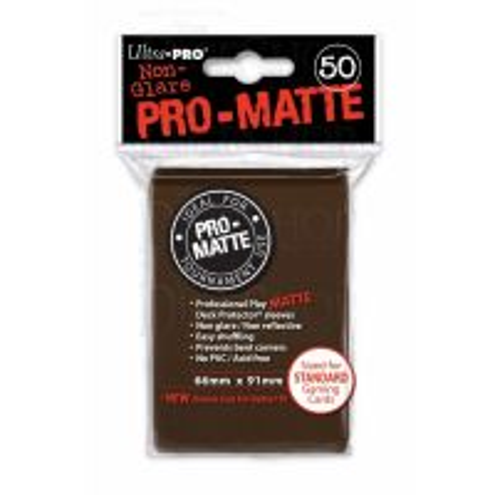Ultra Pro Matte STANDARD Sized Sleeves x 50 - Brown