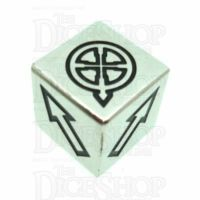 TDSO Metal Polished Silver Finish Scatter D6 Dice