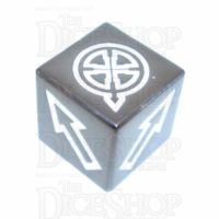 TDSO Metal Polished Black Nickel Finish Scatter D6 Dice