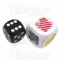 Koplow Opaque White Colour Attributes JUMBO 20mm D6 Dice