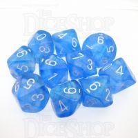 Chessex Borealis Sky Blue 10 x D10 Dice Set