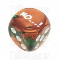 Chessex Gemini Copper & Green NO...! Logo D6 Spot Dice