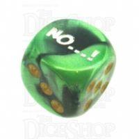 Chessex Gemini Black & Green NO...! Logo D6 Spot Dice