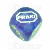 Chessex Borealis Purple FRAK! Logo D6 Spot Dice