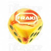 Chessex Gemini Red & Yellow FRAK! Logo D6 Spot Dice