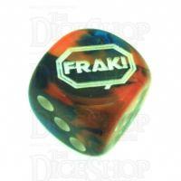 Chessex Gemini Blue & Orange FRAK! Logo D6 Spot Dice