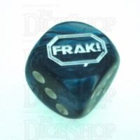 Chessex Lustrous Slate FRAK! Logo D6 Spot Dice