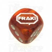 Chessex Lustrous Bronze FRAK! Logo D6 Spot Dice