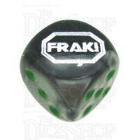Chessex Gemini Black & Grey FRAK! Logo D6 Spot Dice