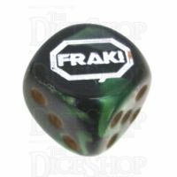 Chessex Gemini Black & Green FRAK! Logo D6 Spot Dice