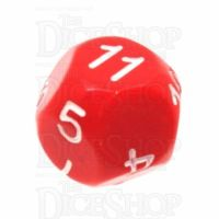 Impact Opaque Red & White D11 Dice